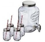 P1044366 - Dávkovač nápojov (4000 ml) so 4 pohármi (450 ml) a slamkami