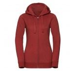 JZ263F.22.0 - 263F•Ladies` Authentic Melange Zipped Hood Sweat