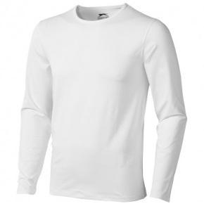 SLAZENGER •CURVE LONG SLEEVE T-SHIRT•200 g/m2•95% bavlna/5% elastan, white, S