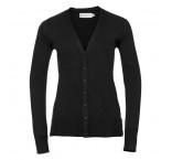 JZ715F.03.0 - 715F•Ladies`V-Neck Knitted Cardigan