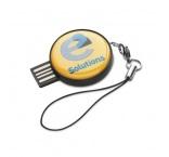 MO1065-03i - Okrúhly. USB flash s čiernym ABS krytom.
