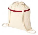 P110.962 - Bavlnený sťahovací batoh s vreckom na zips