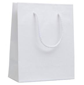 Darčeková papierová taška, white, M