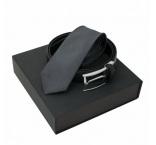 P200.497 - Pánsky set, hodvábna kravata a kožený opasok v klasickom dizajne