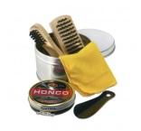 P281.003 - Sada na čistenie obuvi v plechovej krabičke