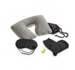 P294.166 - Cestovná sada, nafukovací vankúš, maska na spanie, ponožky a štuple do uší v puzdre