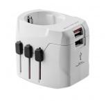 P294.228 - PRO Light USB. 3-pólový cestovný adaptér