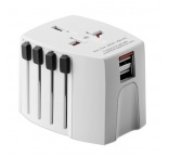 P294.230 - Kompaktný cestovný univerzálny adaptér MUV USB, 2-pólový