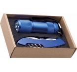 P299.073 - Sada - baterka s 9 LED svetlami a vreckový nôž