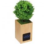 P411.038 - Bambusové stolové hodiny s dekoráciou