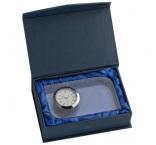 P424.013 - Sklenená dekorácia s hodinkami