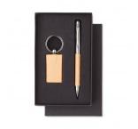 P512.048 - Guľôčkové pero (modrá náplň) a kľúčenka