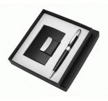 P555.109 - Guľôčkové pero (modrá náplň) a vizitkár