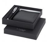 P574.090 - Guľôčkové pero a peňaženka (čierna náplň)