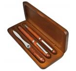 P1844101 - Guľôčkové pero a plniace pero (modrá náplň) s otváračom listov
