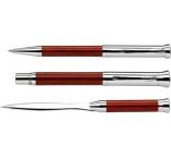 P575.101 - Guľôčkové a plniace pero (čierna náplň) s otváračom listov