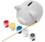P859.110 - Pokladnička prasiatko s farbami a štetcom