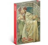 A-4418 - Notes Alfons Mucha – Princezná, linajkovaný, 11 × 16 cm
