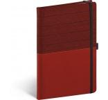 A-8764 - Notebook Skiver, červenovínový, linajkovaný, 13 × 21 cm