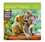 LP04 - Nástenný kalendár, Animal Friends