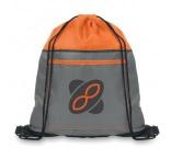 MB3008 - Drawstring bag with front pocket. Min 250 pcs