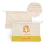 MB9009 - Cotton grocery bag with mesh on 1 side. Min 250 pcs