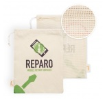 MB9010 - Cotton grocery bag with mesh on 1 side. Min 250 pcs
