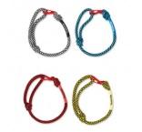 ML3010 - Adjustable 2-tone cord wristband with metal closure. Min 250 pcs