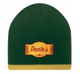 MW1003 - Double layer beanie with coloured trimming. Min 250 pcs