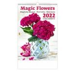 N145 - Nástenný kalendár, Magic Flowers/Magische Blumen/Živé květy/Živé kvety