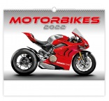N154 - Nástenný kalendár, Motorbikes