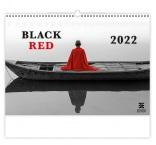 N267 - Nástenný kalendár, Black Red