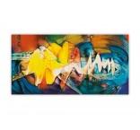 O019 - Drevený obraz, Abstract
