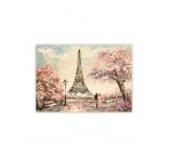 O031 - Drevený obraz, Eiffel Tower