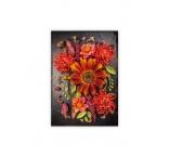 O032 - Drevený obraz, Flowers