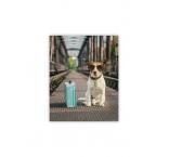 O037 - Drevený obraz, Dog