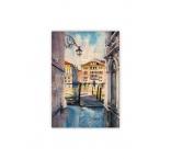 O057 - Drevený obraz, Aquarelle