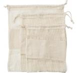 P112.596 - Sada troch opakovane použiteľných bavlnených sieťok