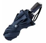 P200.856 - Automatický skladací dáždnik. Vonkajšia strana modrá, vnútorná čierna