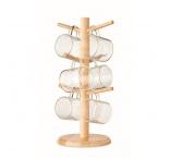 P341.601 - Bambusový držiak hrnčekov