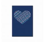 PB69 - NOTES - FOLK SRDCE modrý