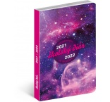 PGD-30254-SK - Školský diár Galaxy (september 2021 – december 2022), 9,8 × 14,5 cm