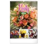 PGN-28940-SK-L - Nástenný kalendár Kvety, 33 × 46 cm