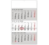PGN-30006-SK-L - Nástenný kalendár 3–mesačný štandard šedý – so slovenskými menami 2022, 29,5 × 43 cm