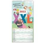 PGN-30030-SK - Nástenný kalendár Rodinný plánovací XXL 2022, 33 × 64 cm