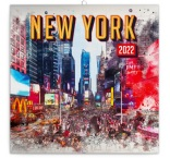 PGP-30082-V - Poznámkový kalendár New York 2022, 30 × 30 cm