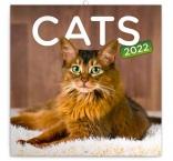 PGP-30121-V - Poznámkový kalendár Mačky 2022, 30 × 30 cm