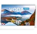 PGS-30195 - Stolový kalendár Voda CZ/SK 2022, 23,1 × 14,5 cm