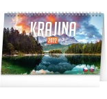 PGS-30196 - Stolový kalendár Krajina CZ/SK 2022, 23,1 × 14,5 cm
