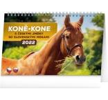 PGS-30198 - Stolový kalendár Koně – Kone CZ/SK 2022, 23,1 × 14,5 cm